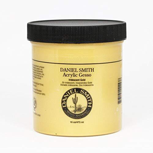 DANIEL SMITH Acrylic Gesso, 16oz Jar, Iridescent Gold, 284040003