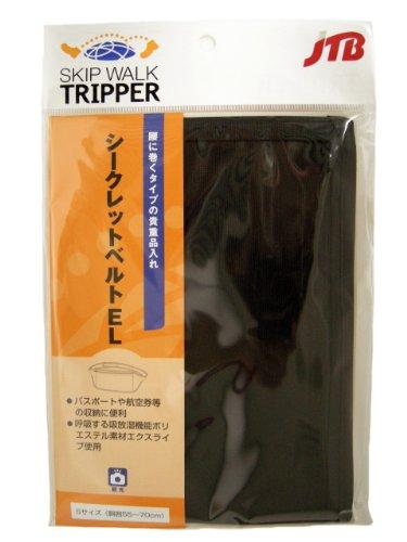 JTB商事 【セキュリティ】 シークレットベルト EL Sサイズ 日本製 ブラック 513003004