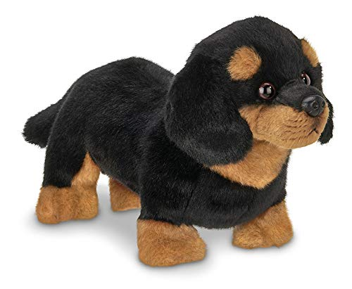 Bearington Harley Black and Tan Dachshund Plush Stuffed Animal Puppy Dog, 13 inch