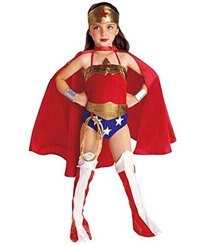 ShallGood Strega Costume Bambina Vestito Carnevale Halloween Regina Costume Halloween Abiti Accessori Pipistrelli Ragazzi Mantello Compleanno Prestazione Wonder Girl S(95-105Cm)