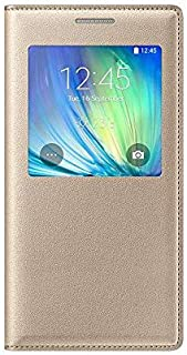 Window View With Invisible Magnetic Closure Flip Leather Wallet Cover Folio Case Compatible with Samsung Galaxy A5/A500F -...