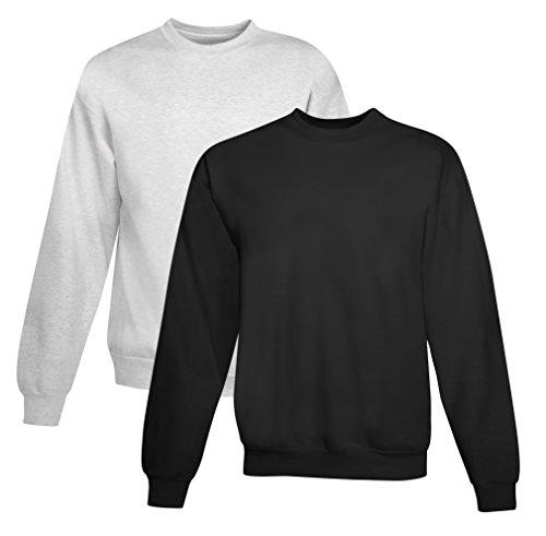 Hanes EcoSmart Sweat-shirt polaire pour homme (lot de 2) - - Large