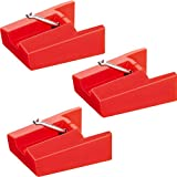 3 Pack Replacement Stylus Turntable Record Player Needle for ION LCT04RS, ION TTUSB,TTUSB10,Phonograph CR24003A, CR2402C, CR2413A, CR245, CR246, CR249, CR6001A, CR6004A, CR6249A,