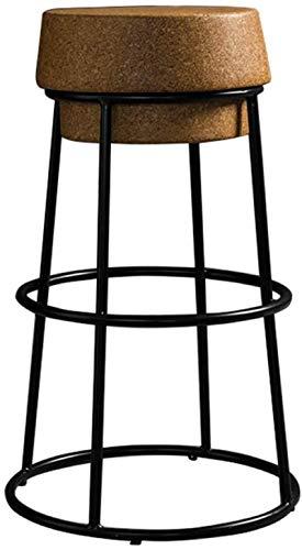 XUHRA Bar Sgabello Bar Sgabello da Bar Sgabello Ad Alto Piede Sgabello Rotondo Foot Cafe Cucina Cucina Tachage Tappo Compresso Sughero Stabile Nero Nero Pavimento in Ferro,Altezza Seduta, 45 Cm