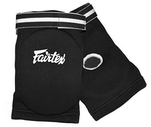 Fairtex Ellenbogenschoner mod.EBE Pads, Schutzausrüstung für MuayThai, Kickboxen, MMA Thai-Boxen, Kampfsport, Einheitsgröße, Schwarz , One Size For All