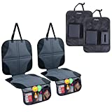 Ohuhu 4-Pack Child Vehicle Protectors & Kick Mats
