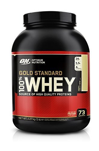 Optimum Nutrition 100 % Whey Gold Standard, French Vanilla Creme, 5 Pound by Optimum Nutrition