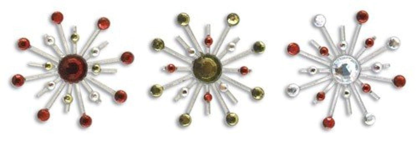 Karen Foster Design Sparkle Burst Brads Embellishments, 6 Holly and Berries