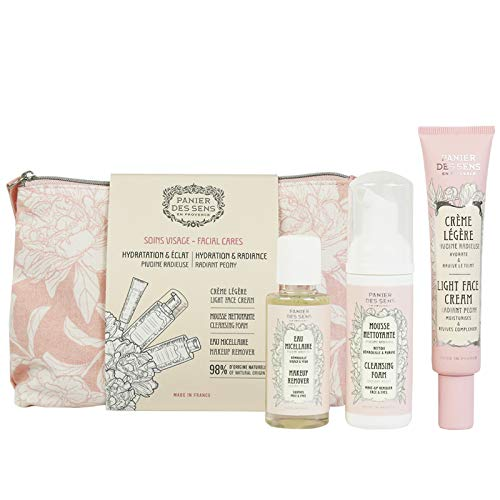 Panier des Sens Face care travel Set Peony - Made in France