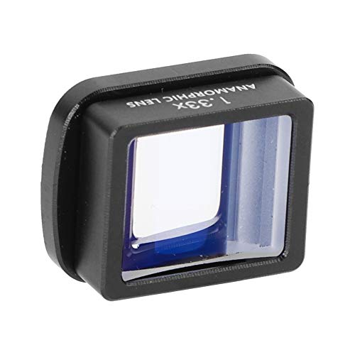 VBESTLIFE Anamorphes Objektiv, 1,33-Fach tragbares, direkt filmfähiges anamorphes Kinoobjektiv mit magnetischer Saugschnittstelle für die DJI Osmo Pocket Ballhead-Kamera