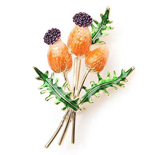 Orange Blue Tulip Bouquet Blumen Emaille Broschen Metall Hochzeiten Bankett Brosche...