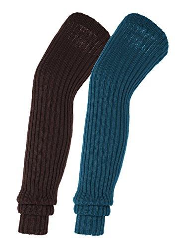 Urban CoCo Women's Winter Knee High Footless Socks Knit Crochet Leg Warmer (#4)