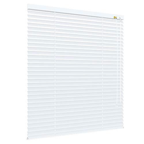 deko-raumshop Alu Jalousie Aluminium Lamellen Metall Fenster Tür Rollo Weiß - Breite 40 bis 240 cm - Höhe 130/160 / 220 cm Jalousette Lamellenjalousie (220 x 160 cm)
