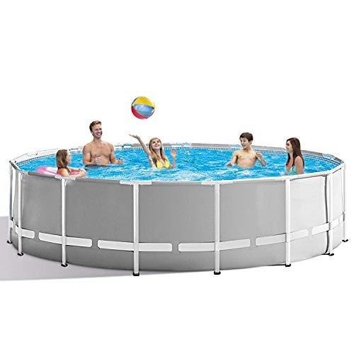 3.6 m x 76.2 cm marco de metal redondo sobre el suelo piscina gris (sin bomba)