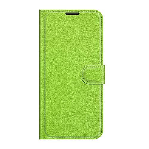 ZL ONE - Carcasa para Huawei Y5 II Flip PU Cuero Magnético Protector Bumper Case Cover (Verde)