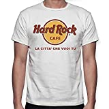 Replica T-Shirt White Hard Rock Cafe with City for Man and Woman Unisex White XL