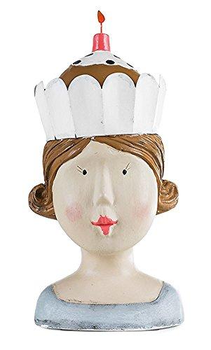 Aufsteller Deko Kopf mit Torte Frauenkopf Frau Mädchen Lady Ladykopf Büste Kaffeetante