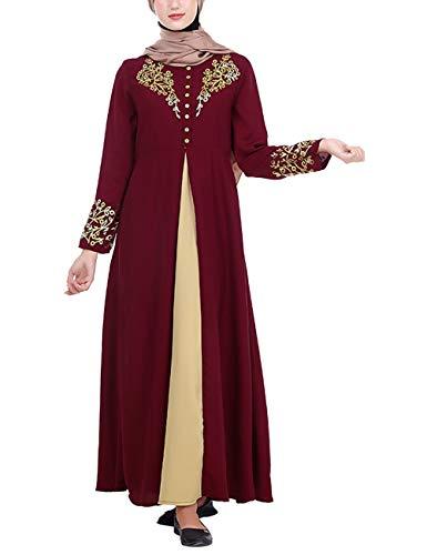 besbomig Muslimische Kleider Islamische Abaya Frauen Mode Robes - Elegant Abendkleid Dubai Arab...