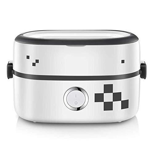 YFGQBCP Fiambrera Caja de Almuerzo eléctrica, Calentador de Alimentos portátil de Lujo, con envase de cerámica extraíble, Calentador de Almacenamiento de Alimentos