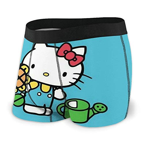 DWEO0JDWK Hello Kitty Sunflower Herren Cotton Boxershorts 2 Pack-X-Large Black