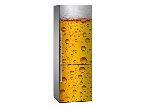 Oedim Vinilo para Frigorífico Cerveza 185x60cm | Adhesivo Resistente y Económico | Pegatina Adhesiva Decorativa de Diseño Elegante