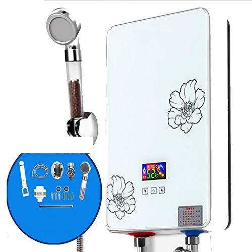 BTSSA Konstante Temperatur Tankless Elektrischer Durchlauferhitzer,LCD-Anzeige Touch-Tastenbedienung Sofortiger Water Heater für Badezimmer Warmwasserbereiter mit Duschkopf