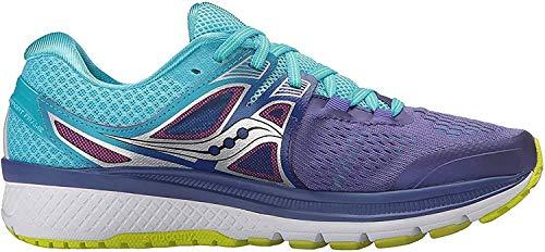 Saucony Women's Triumph iso 3 Running Shoe, Purple/Blue/Citron, 7.5 M US