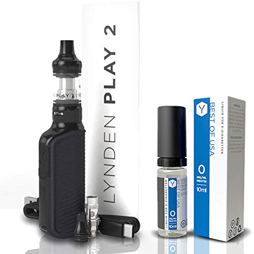 Lynden Play 2 Starterset | 1500 mAh | 2 ml | Inkl. Liquid | Best of USA | MTL und DL...