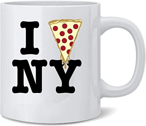 """Kaffeetasse aus Keramik mit Aufschrift \""""I Pizza New York\"""", 325 ml"""