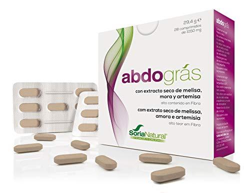 Soria Natural - ABDOGRAS - Reductor de grasa abdominal - Mejora el metabolismo - 28 comprimidos - Alto contenido de fibra