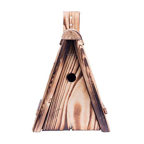 Kölle Nistkasten aus Fichtenholz mit Strohdach, Zwei Einfluglöcher