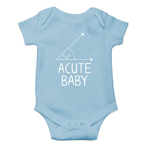 AW Fashions Acute Baby - Math Lovers Nerd Cute Novelty Funny Infant One-Piece Baby Bodysuit (6 Months, Light Blue)