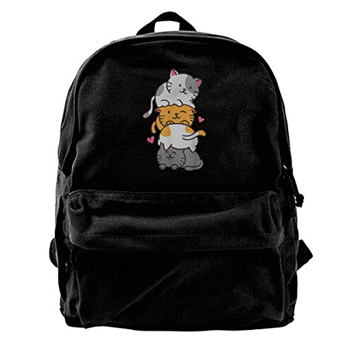 XCNGG Cat Cats Meowtain Cute Kitty Pile Anime Kawaii Neko Regalo niñas niños Mochilas Bolsas de Libros de Lona