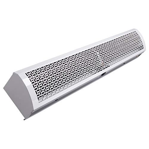Cortina de aire Lxn Blanca/Super Fina de Caja de Metal Comercial/doméstica de 2 velocidades con Interruptor de botón, Potente, silenciosa, Cuerpo pequeño, Peso Ligero