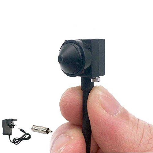 TPEKKA Spionage Kamera Mini Spion Kamera HD 1000TVL Tragbare Versteckte Lochkamera mit Mikrofon für Heim-und Büro-Überwachung