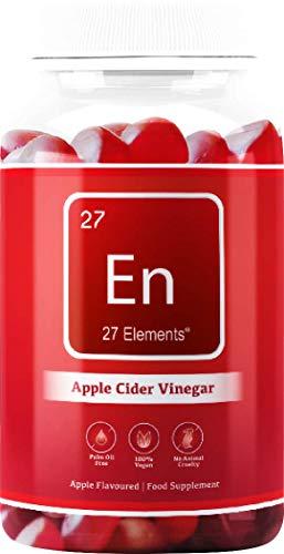 Apple Cider Vinegar Gummies + Vitamin C | with The Mother | 2 Months Supply - 60 Vegan Gummies | Natural Apple Flavoured Supplement for Adults & Children | Gluten & Palm Oil Free