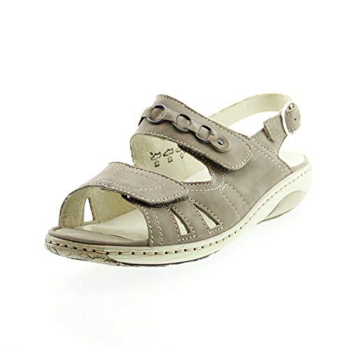 Lugina Schuhfabrik GmbH 210004 191 060 Garda - 210004 beige G-Weite Sandale Gr. 6