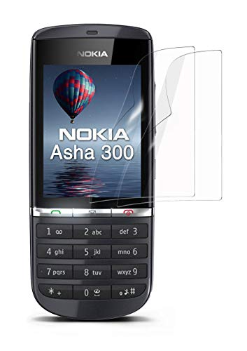 MoEx Protezione Schermo HD Trasparente Compatibile con Nokia Asha 300 | AntiGraffio/Invisibile, 2X