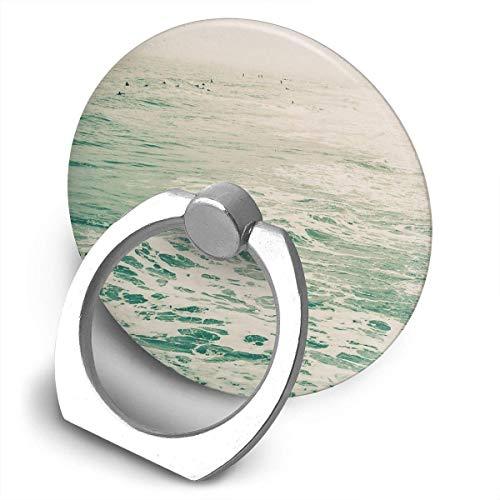 ARRISLIFE Summer Surf Soporte para teléfono,Round-Shaped Soporte para Anillo de teléfono Celular,360 Degrees Rotating Soporte de Metal