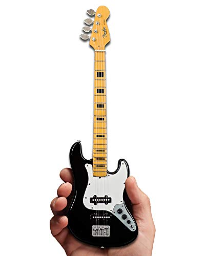 Price comparison product image Geddy Lee Collectible Miniature Black Jazz Bass 1:4 Scale Replica Model