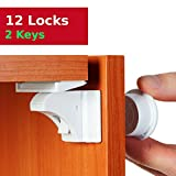Baby Magnetic Cabinet Locks Child Safety - Ideal for Baby Proofing Cabinets