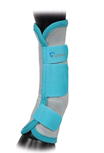 Shires Equestrian Horse Airflow Turnout Socks Teal Full
