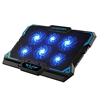 Laptop Cooling Pad Laptop Cooler with 6 Quiet Led Fans for 15.6-17 Inch Laptop Cooling Fan Stand Portable Ultra Slim USB Powered Gaming Laptop Cooling Pad Switch Control Fan Speed Function