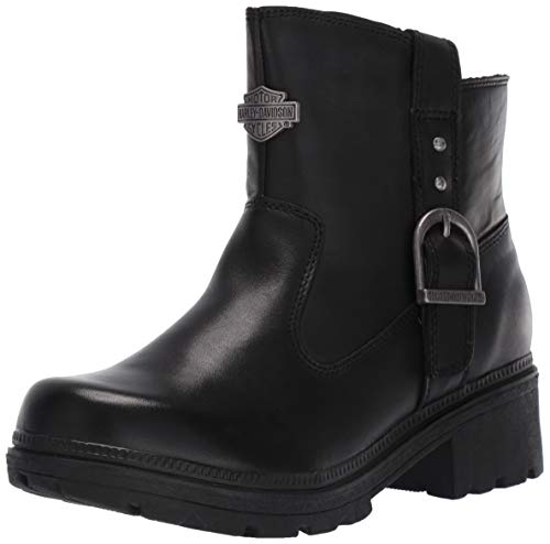 Harley-Davidson Women's Madera 5-Inch Black Casual Ankle Boots D84406, Black, 07.0 M US