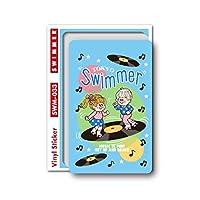 SWIMMER MUSIC ミニステッカー キャラクターステッカー スイマー ブランド イラスト かわいい パステル レトロ 雑貨 SWM033 gs 公式グッズ