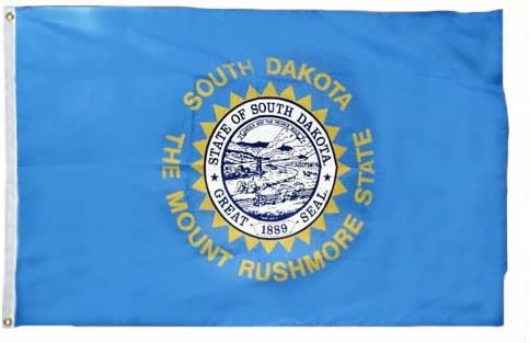 South Dakota State Valley Forge Indoor Flag Nylon R Dealing full price gift reduction Dyed Outdoor