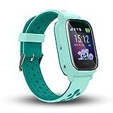 Calmean NEMO 2 - Resistente al agua IP67, reloj inteligente digital para niños con triple seguimiento (GPS+LBS+WiFi) con aplicación para iOS y Android Reloj impermeable (verde)
