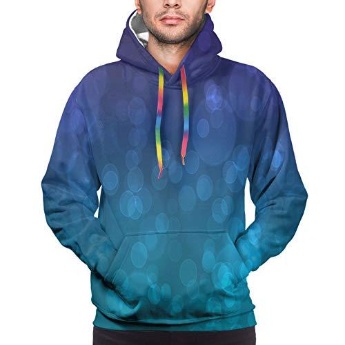 QUEMIN Herren Hoodie New Purple and Teal Wallpaper Unisex 3D Neuheit Hoodies Pullover Sweatshirt mit Taschen
