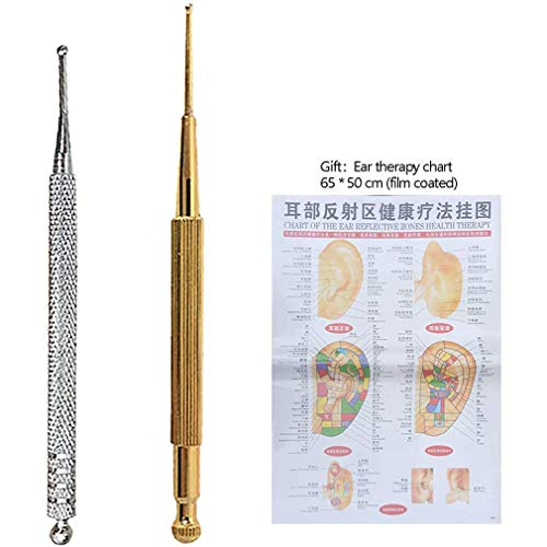 WXCC Probe Dual Probe for Acupuncture and Acupressure, Acupuncture Ear Acupuncture Pen Facial Reflexology Tools (Dien Chan) Pen Set of 2