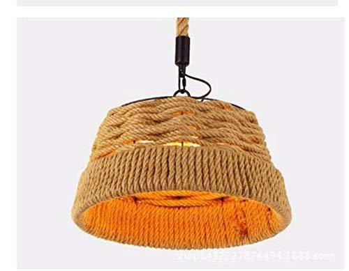 on. Gzz Deng Home buitenverlichting hanglamp kroonluchter plafondlamp schaduw henneptouw retro 30 watt 38 x 21 cm